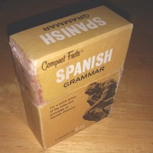 Vintage 1963 Compact Facts Spanish Grammar Cards J